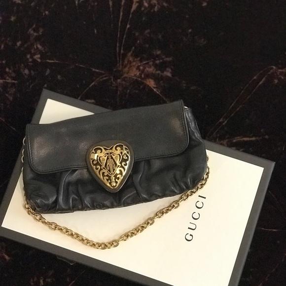 b58052e624e Handbags - Authentic Gucci Handbag black gold